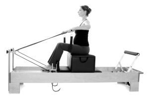 Prenatal Pilates rowing